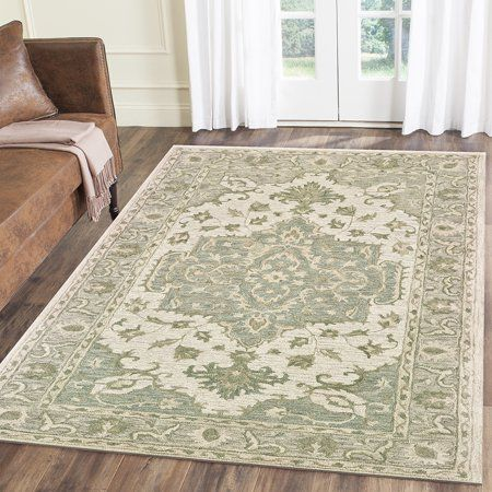 Lr Home Modern Traditions Sea Green And Gray Indoor Area Rug 5 X 7 9 Walmart Com Green Area Rugs Area Rugs Indoor Area Rugs