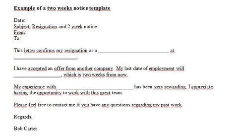 Give Your Two Weeks Notice Briefly And Succinctly With This