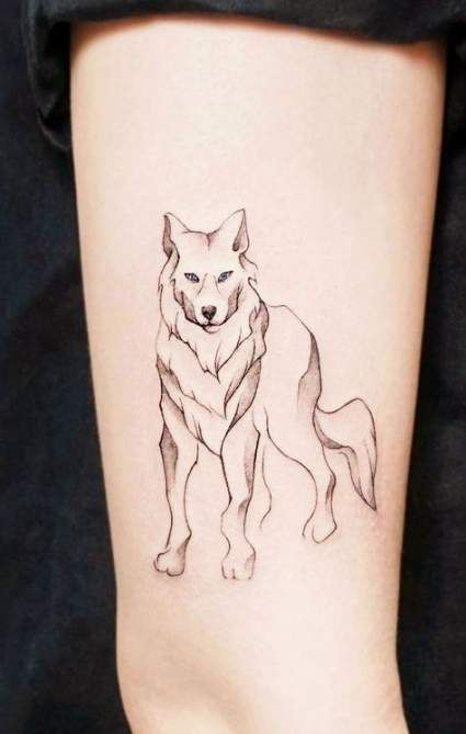 Tattoo Simple Wolf Geometric 63 Ideas Wolf Tattoo Small Wolf Tattoo Wolf Tattoos For Women