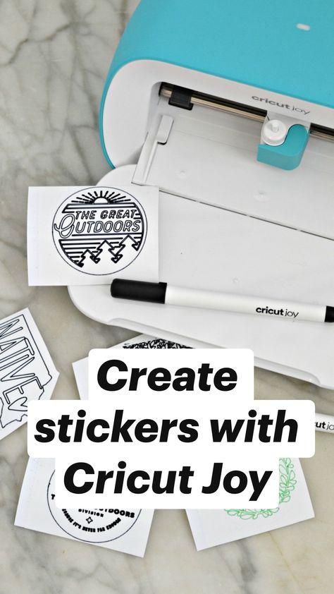 Create stickers with Cricut Joy