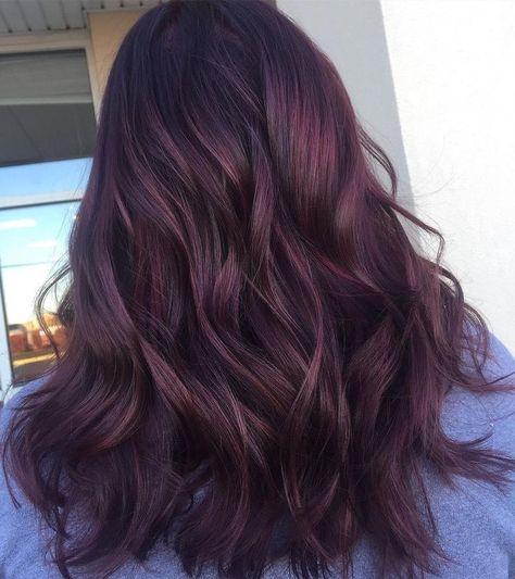 Dunkelrote braune haare