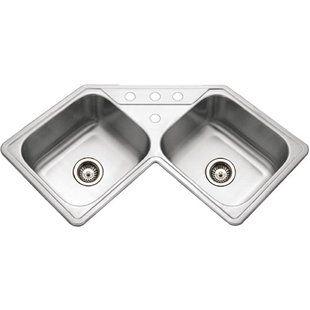 Corner Kitchen Sinks You Ll Love Wayfair Corner Sink Kitchen Drop In Kitchen Sink Stainless Steel Kitchen Sink