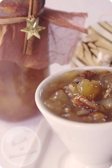 Confiture de Noël, poires,vanille, cannelle et noix