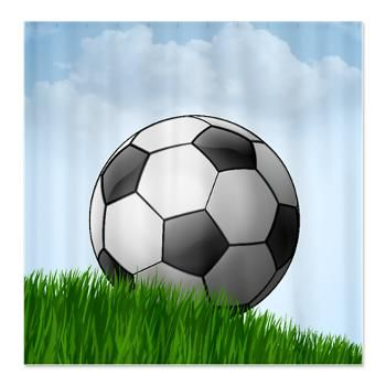 Soccer Ball In Field Shower Curtain Soccer Soccer Ball College