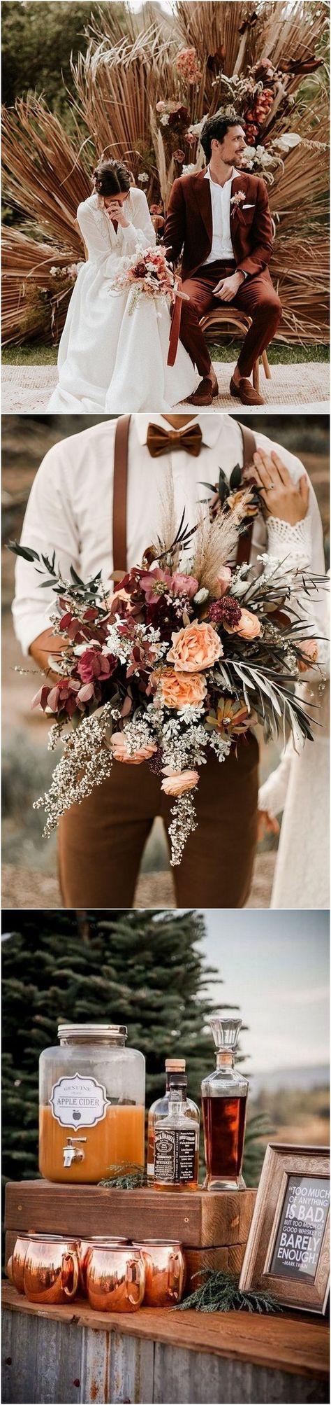 rust fall dusty orange wedding color ideas #weddings #rustwedding #weddingcolors #weddingideas