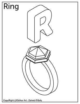 R For Ring Alphabet Coloring Pages Preschool Coloring Pages Alphabet Coloring