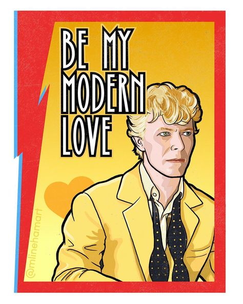 David Bowie Valentines are available at mlinehamart.com.  #davidbowie