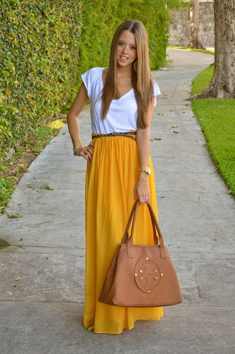 Yellow maxi skirt too bad yellow looks awful on me tho :(