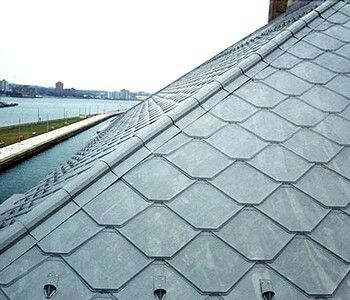 Pin By Martha Soto On Roofs Cooper Slate And Tiles Solar Roof Solar Roof Tiles Aluminum Roof