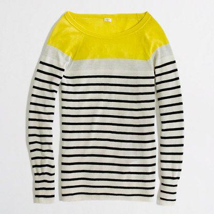 summerweight boatneck striped cashmere sweater