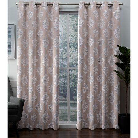 Exclusive Home Curtains 2 Pack Medallion Blackout Grommet Top