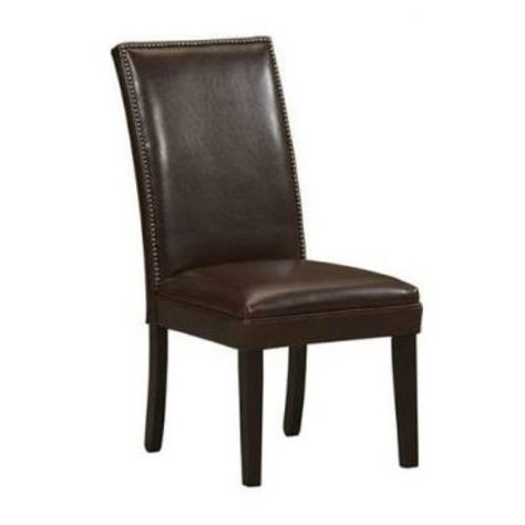 Brockwell Dining Chair, Tan Brown Faux