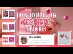 How To Have An Aesthetic Roblox Profile Mxddsie Youtube Roblox Profile Aesthetic