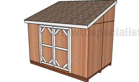 8x12 Lean To Shed Plans Howtospecialist How To Build Step By Step Diy Plans Lean To Shed Plans Lean To Shed Shed Plans