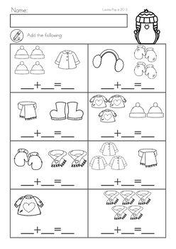 Winter Math Worksheets Activities No Prep Winter Math Worksheets Kindergarten Addition Worksheets Math Addition Worksheets