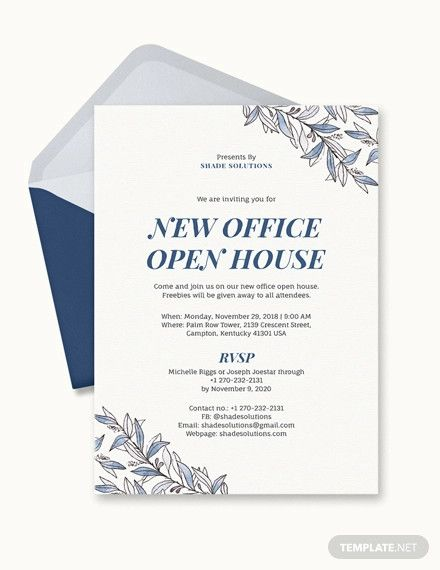 20 Format Of Office Invitation Templates Free And Review Di 2020