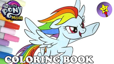 My Little Pony The Movie Rainbow Dash Coloring Book Page Video