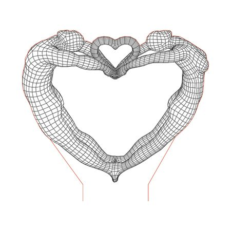 Male And Female Heart 3d Illusion Lamp Plan Vector File For Laser And Cnc 3bee Studio 3d Illusion Lamp 3d Illusions Illusions