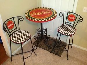 Coca Cola Chairs And Tables White Leather Task Chair Bistro Table Set Stuff Sets