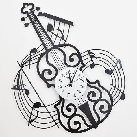Orologio Ferro Battuto.Colono Drow Moda Musica Orologio Da Parete Violino Orologio