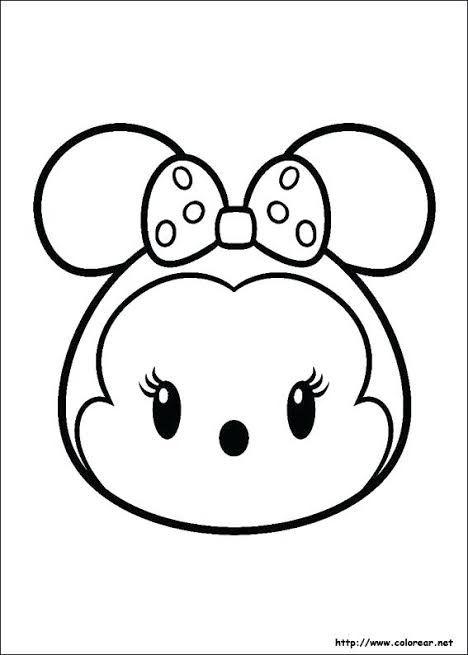 Resultado De Imagen De Dibujos Kawaii Para Colorear Tsum Tsum