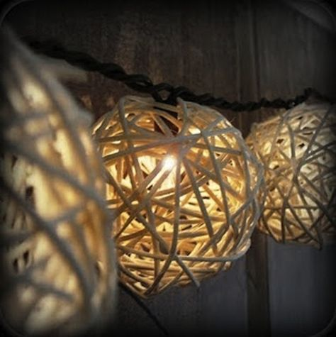 DIY lights  We could make these for the outside patio and spray them with waterproof spray...