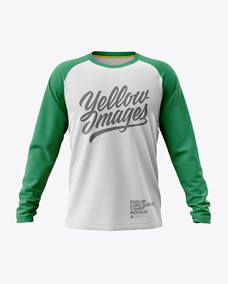 Mens Raglan Long Sleeve T Shirt Jersey Mockup Psd File 132 65 Mb