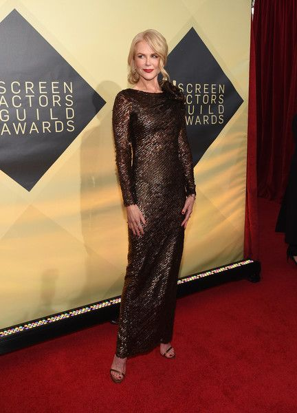 Actor Nicole Kidman attends the 24th Annual Screen ActorsGuild Awards.