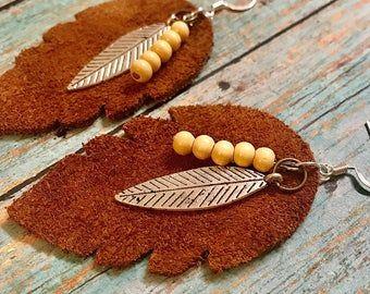 Monogrammed 2 Layered Faux Leather Teardrop Earring In Black Etsy Handmade Handmade Jewelry Shop Etsy Jewelry