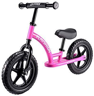 Amazon Com Playshion Kids Balance Bike Pink Sports Outdoors
