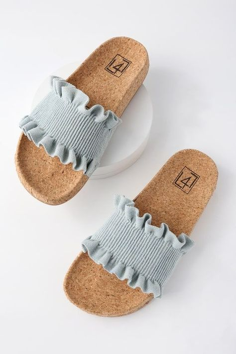 Alexa Denim Slide Sandals 3