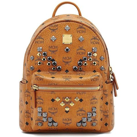 MCM Stark M Stud Small Coated Canvas Backpack ($930