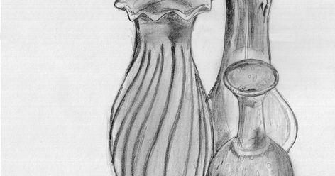 12 Lukisan Vas Bunga Dengan Pensil Di 2020 Cara Menggambar Lukisan Gambar
