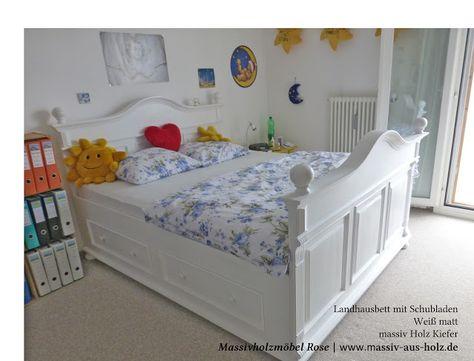 Für unsere liebe Kundin aus der #Schweiz ist das #Landhaus-#Bett - schlafzimmer landhausstil massiv
