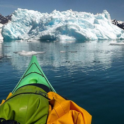 One of the coolest things I ever did! Kayaking between the icebergs of Columbia Glacier in Alaska