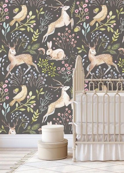 Peel Stick Wallpaper Picks For Kids Rooms Emily A Clark Woodland Wallpaper Playroom Wallpaper Nursery Wallpaper