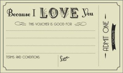 printable voucher  Printable IOU Coupon Voucher | DIY - Crafty | Pinterest | Coupons ...