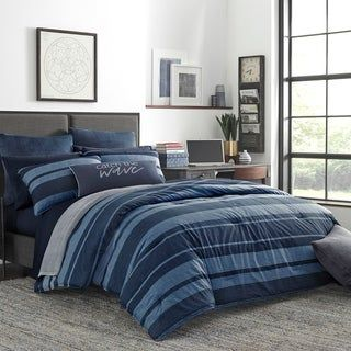 Nautica Longpoint Navy Cotton Comforter Set Twin Longpoint