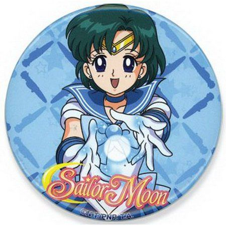 Anime Sailor Moon Sailor Mercury Metal Pin Badge ~Brand New~