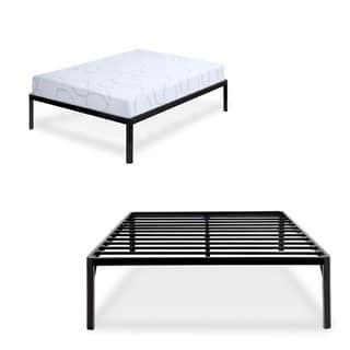 Sleeplanner 14 Inch King Dura Steel Slate Bed Frame Black S 3500 Round Edge Bed Slats Bed Frame Corner Bed Frame