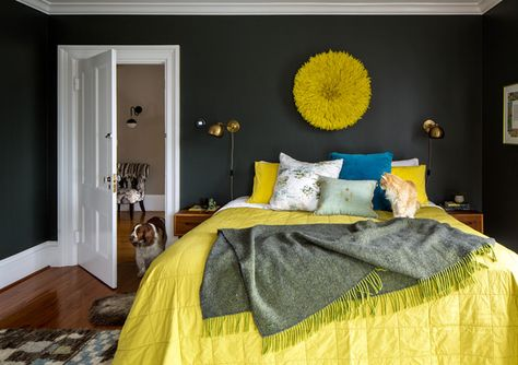 Not So Mellow Yellow - A Designer's Home That Takes Wallpaper To The Next Level - Photos