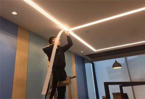 seamless recessed led linear light