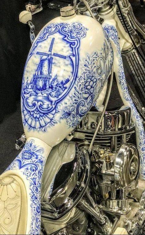 """badskippy: """" steampunktendencies: """"This motorcycle paint job. """" … imagi… badskippy: """" steampunktendencies: """"This motorcycle paint job. """" … imagine a prosthetic leg or arm painted like this … """" Custom Paint Motorcycle, Chopper Motorcycle, Steampunk Motorcycle, Blue Motorcycle, Motorcycle Quotes, Harley Bikes, Harley Davidson Bikes, Ducati Monster, Moto Chopper"""