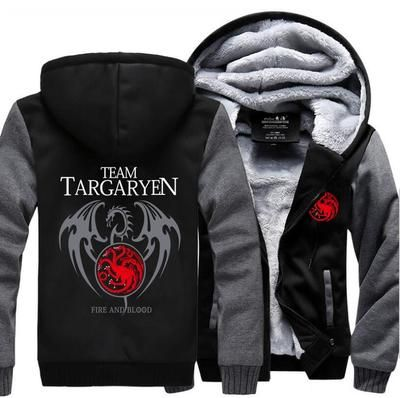 2019 Winter Thick Warm Hooded Men Game of Thrones Targaryen
