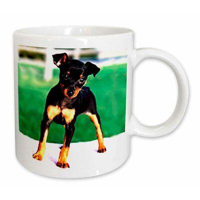 East Urban Home Pinscher Puppy Coffee Mug Mugs Custom Printed