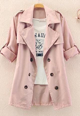 Color: Pink ,  Size: standard size ( medium size )  Fabric: Other  Size (cm): Length 52 , Waist 49 , Bust 50 , Sleeve 54 , Shoulder 38.5,