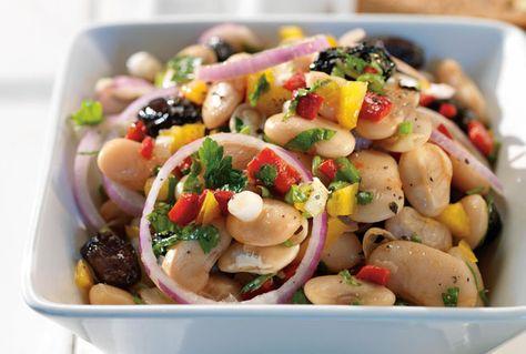 Broad beans salad-Click For Recipe