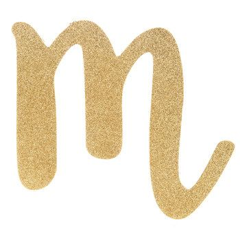 Her Name Spelled Out With Gold Glitter Letter Wood Wall Decor M Glitter Letters Wood Wall Decor Lettering