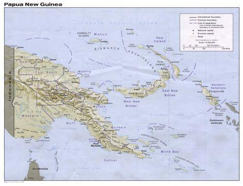 Papua New Guinea Map Ethnologue PNG Pinterest Guinea Map - Guinea bissau clickable map