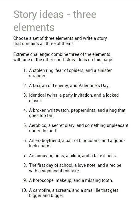 good ideas for creative writing